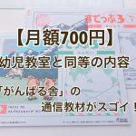 幼児教室同等の学習が月額700円!がんばる舎の通信教材がスゴイ!!
