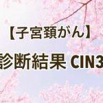 子宮頸がんの検査を受けた結果「CIN3」と診断された35歳の春①